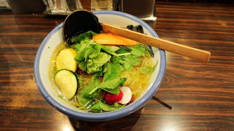 A bowl of vegan ramen in Japan