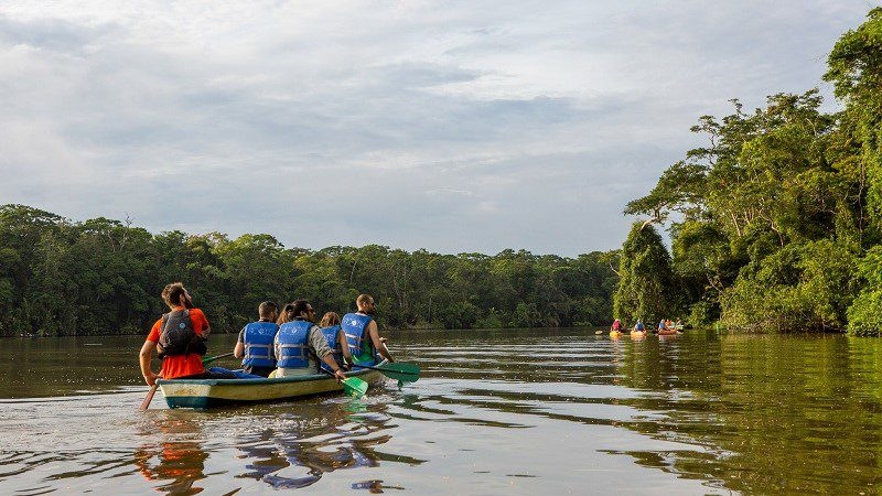 Canoeing in Tortuguero National Park, Costa Rica