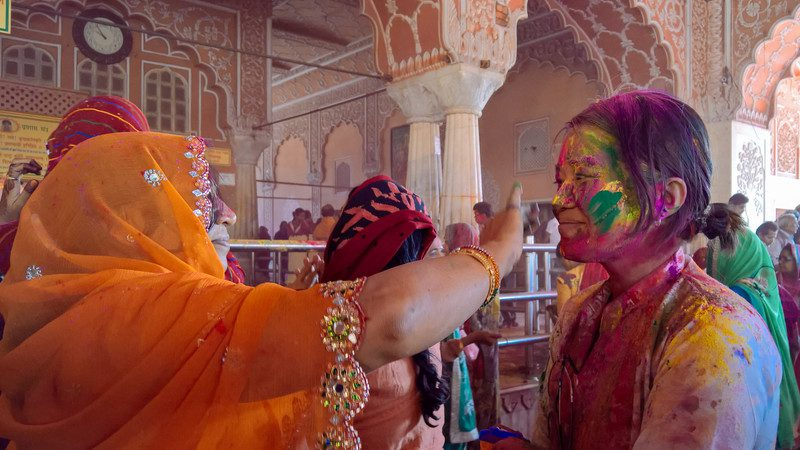 Face painting in Jaipur