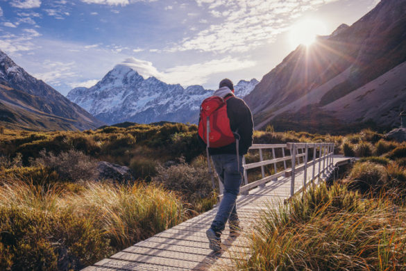 Hiker in New Zealand