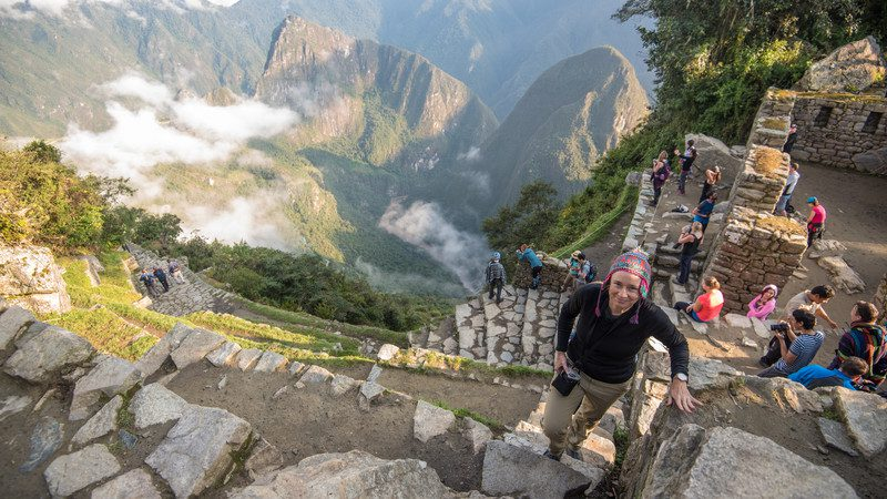 Trekkers at the Sun Gate, Machu Picchu