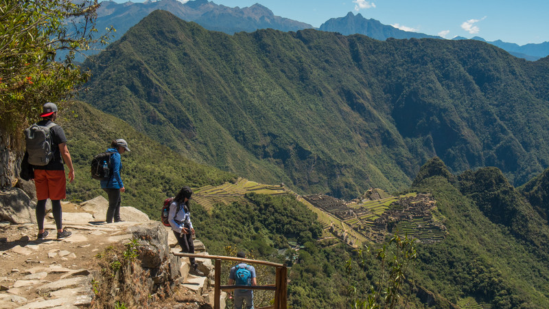 Trekkers on the Inca Trail
