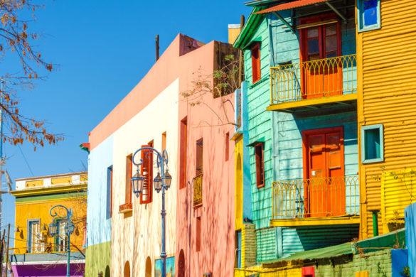 Colourful La Boca houses.