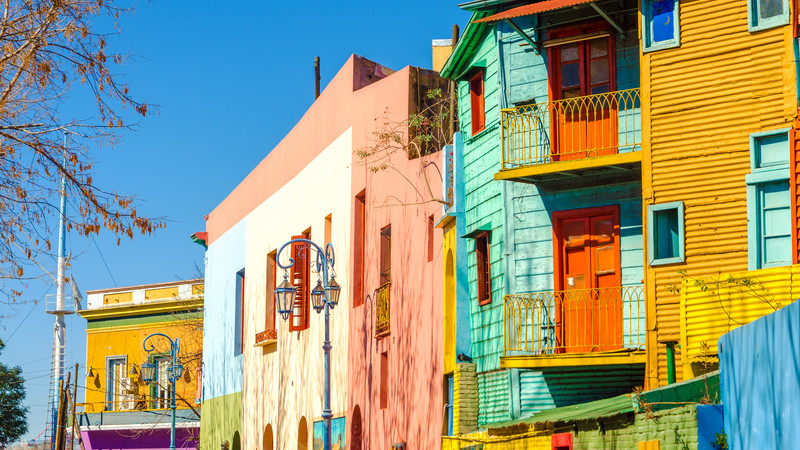 Colourful La Boca houses.