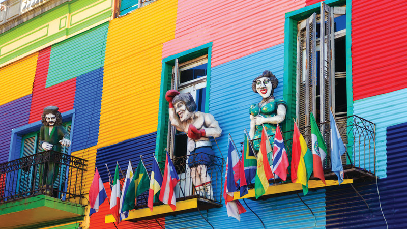 Colourful La Boca facades.
