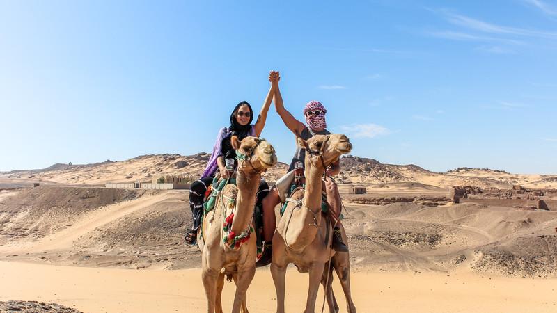 Camel riding in Aswan, Egypt