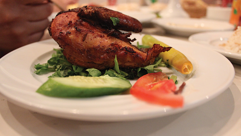 A typical Egyptian meal