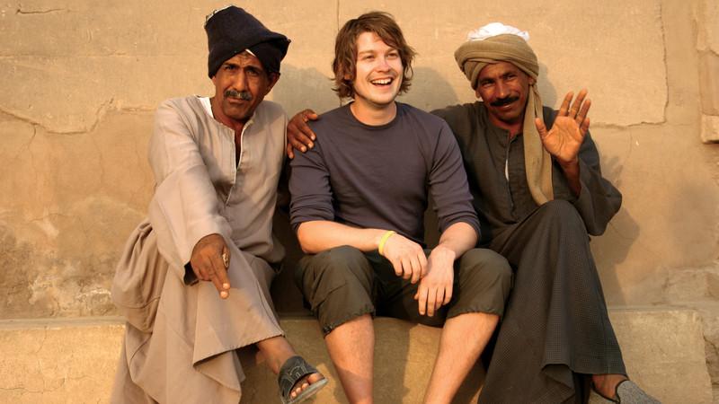 Traveller meets locals in Luxor, Egypt