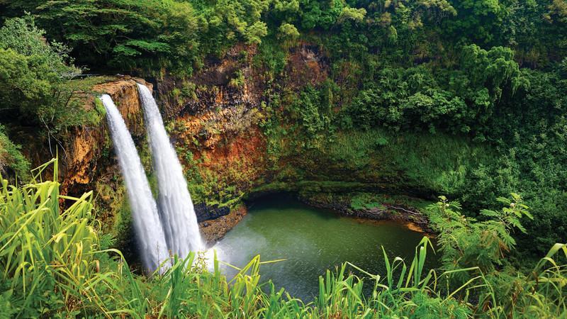 Wailua waterfalls.