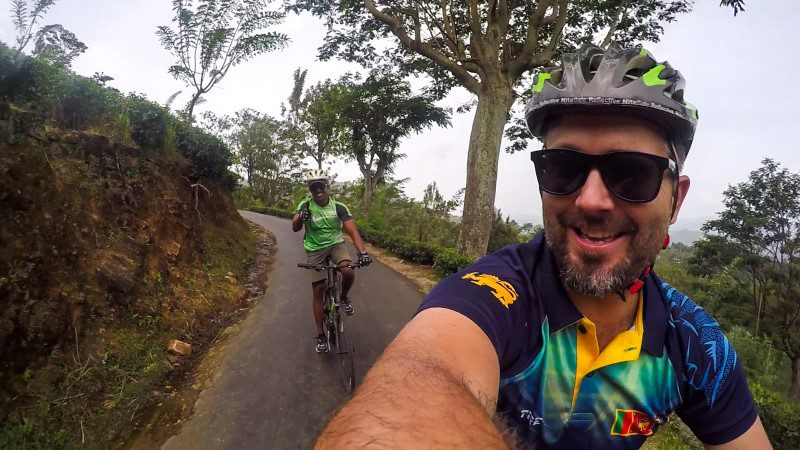 Scott enjoying his Sri Lanka: Hike, Bike & Kayak tour with Intrepid