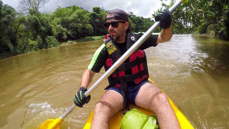 Scott hones his kayaking skills in Sri Lanka
