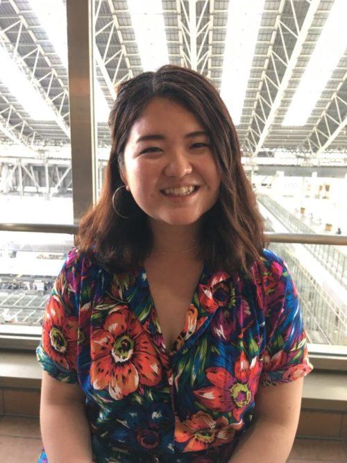 Michie Hamaya, smiling