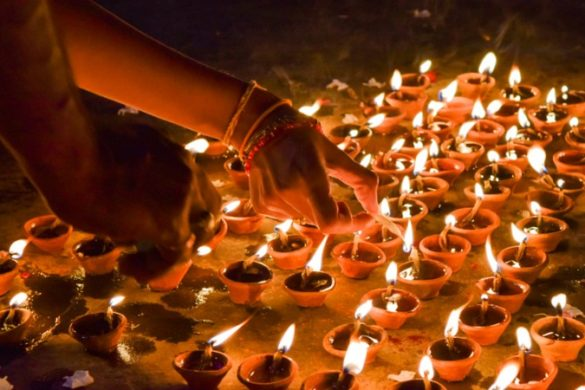Candles for Diwali festival