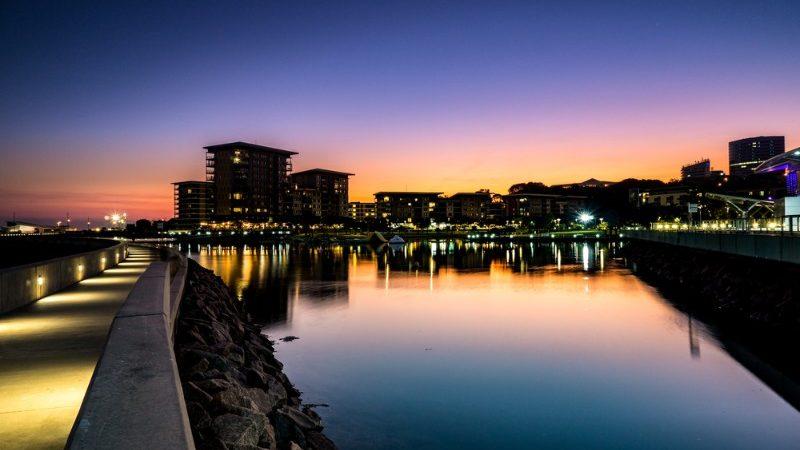 Darwin harbour at sunset