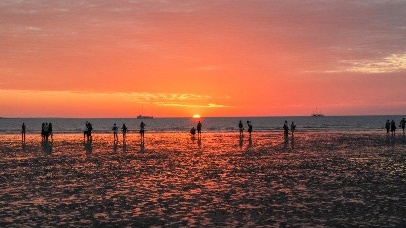Mundil Beach at sunset