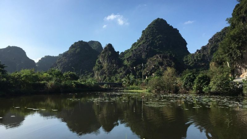 Karst mountains in Ninh Binh, Vietnam