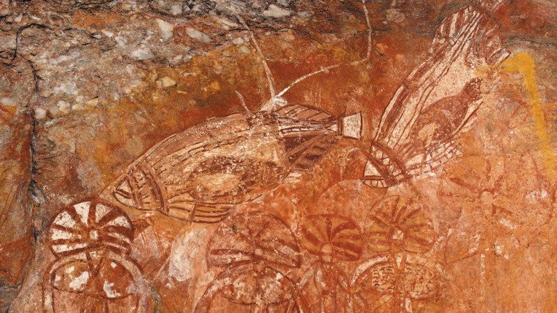 Nourlangie Rock fish art