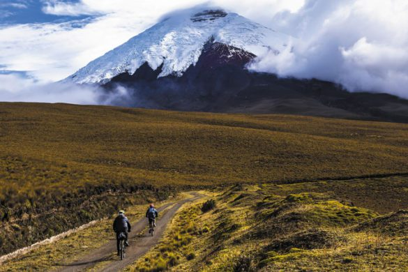 Hikers in Cotopaxi National Park