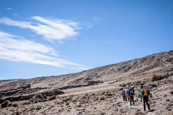 Hiking up Kilimanjaro