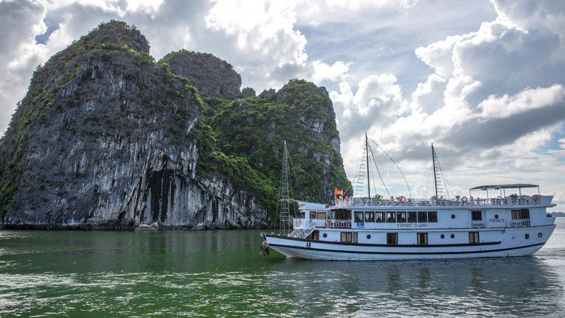 A boat in Halong Bay