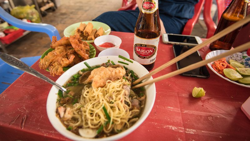 A bowl of noodles in Vietnam