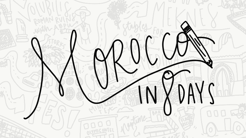 Morocco in 8 days illustrated