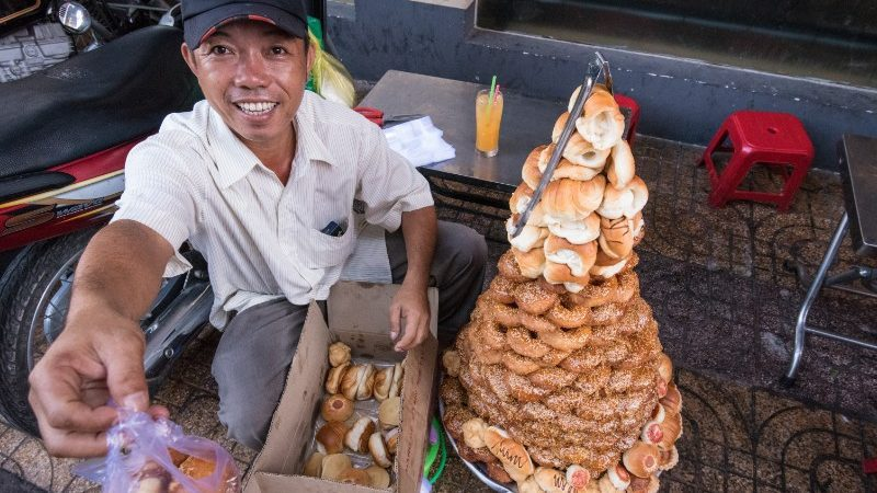 A man selling bread in Ho Chi Minh City