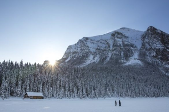 Winter at Lake Louise, Canada