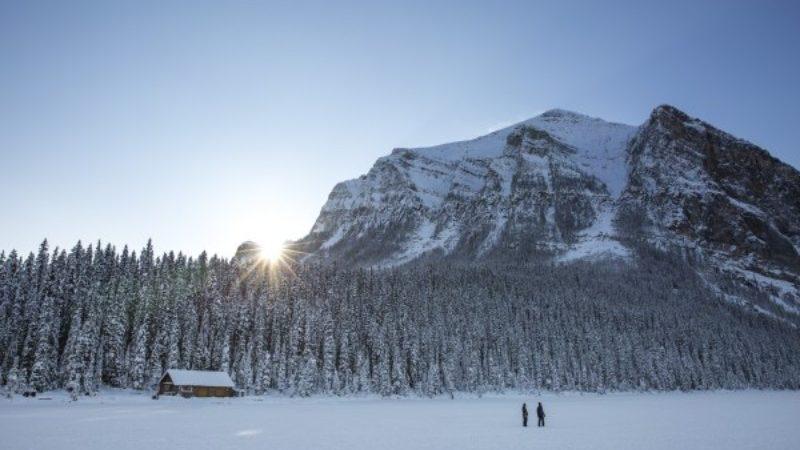 Winter at Lake Louise, Canada
