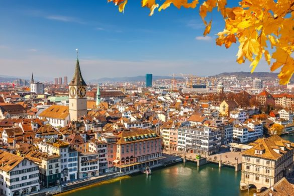 Downtown Zurich in Switzerland