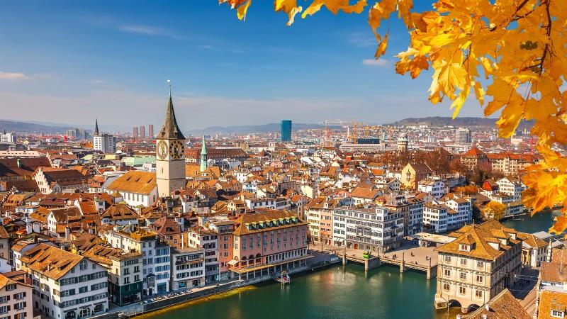 Downtown Zurich in Switzerland