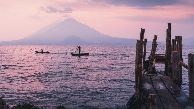 Lake Atitlan, Guatemala at dusk