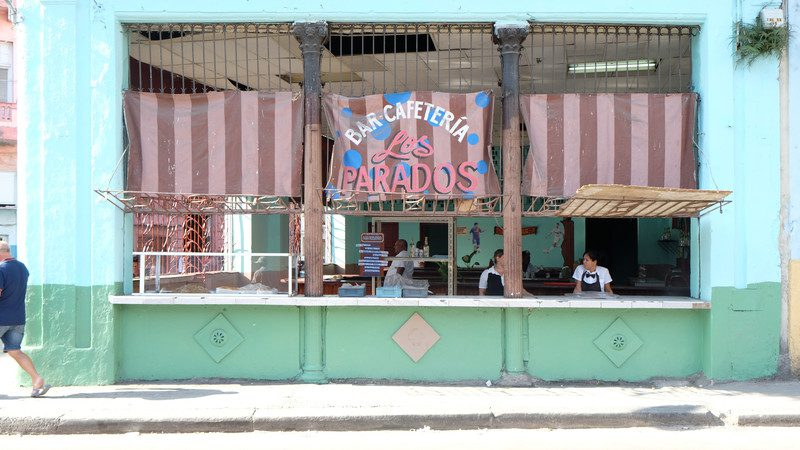 Colourful shop front in Cuba