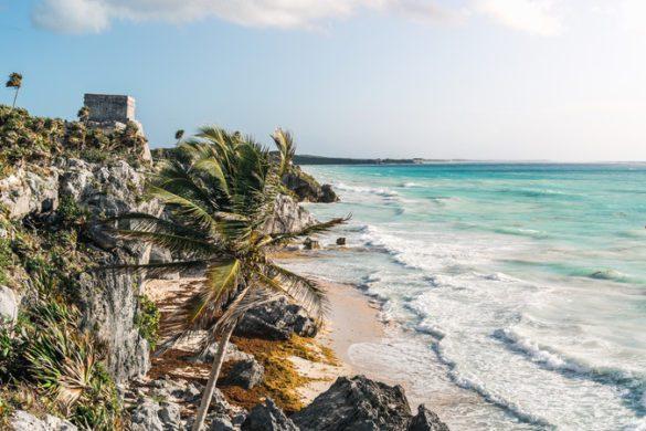 Beautiful Tulum coastline, Mexico