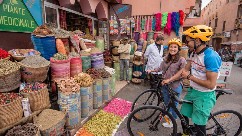 Cycling in Marrakech