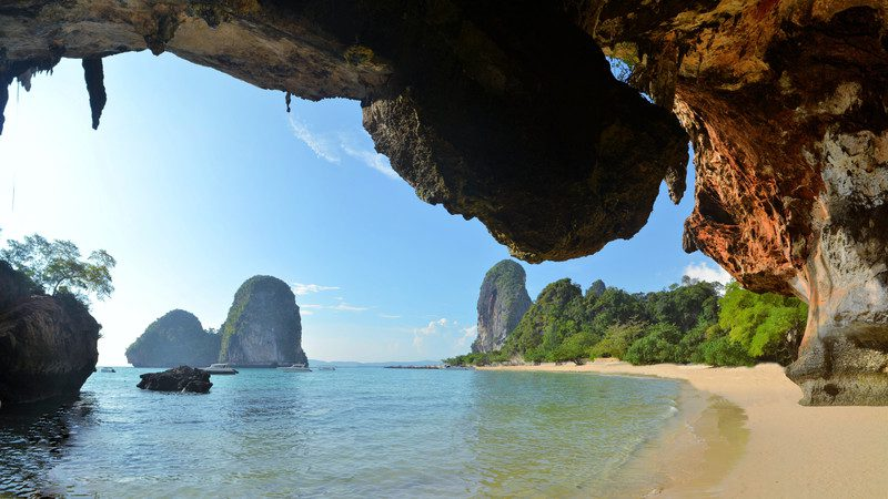 View of Krabi Beach, Thailand