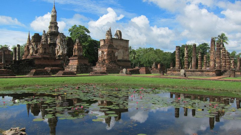 Temples at Sukhothai, Northern Thailand