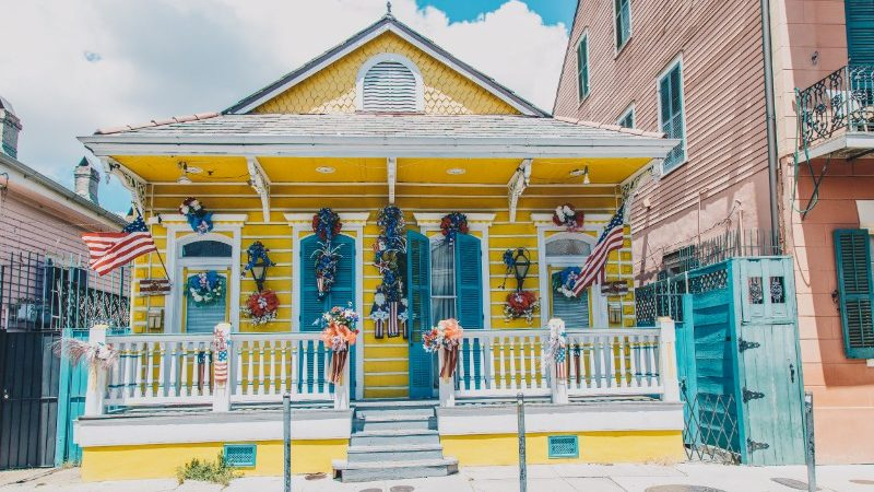 Colourful house in New Orleans