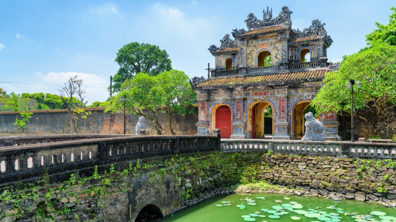 The East Gate of the ancient citadel, Hue