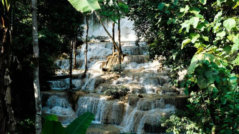 Mae Kae Waterfall at Lampang, Thailand