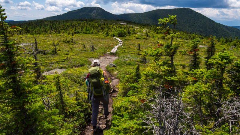 Hiker on the Appalachian Trail