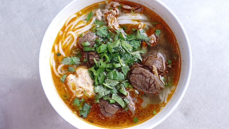 Bowl of bun bo hue