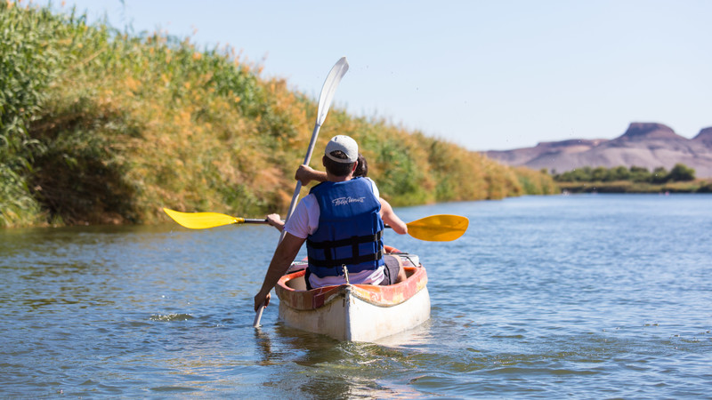 Kayaking in Namibia