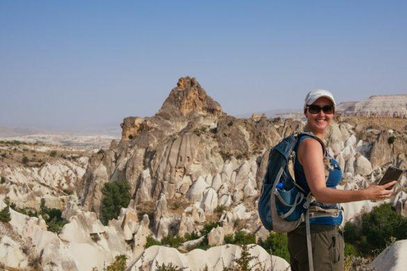 Hiker in Cappadochia