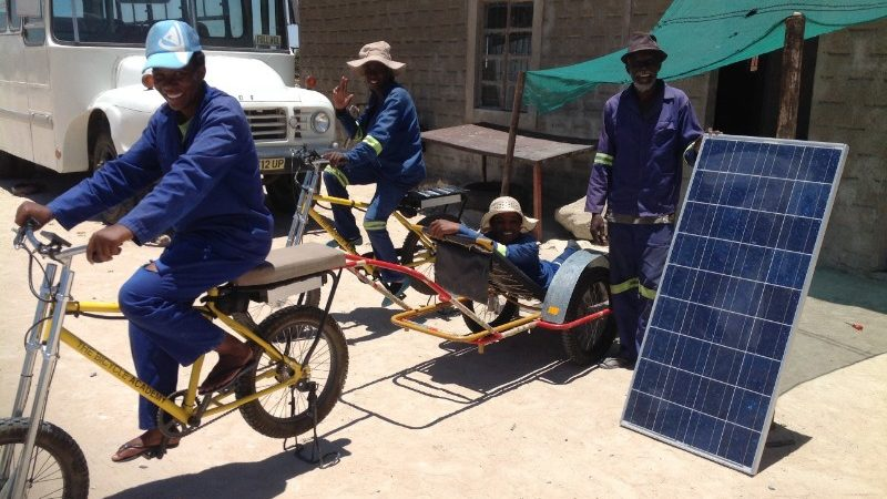 An ambulance bicycle in Namibia