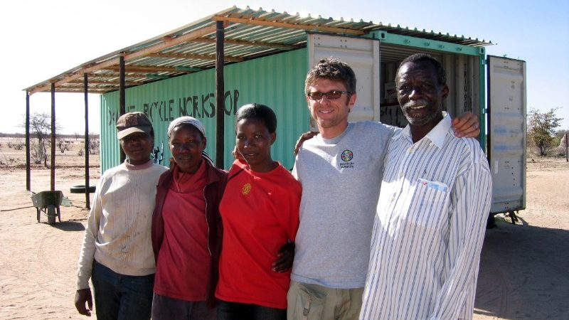 The Bicycles for Humanity team in Namibia