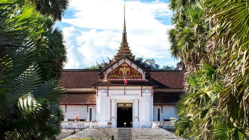 Entrance to the Royal Palace Museum in Luang Prabang