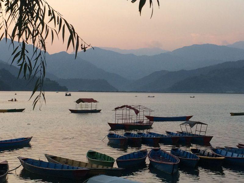 Sundown at Lake Phewa Nepal