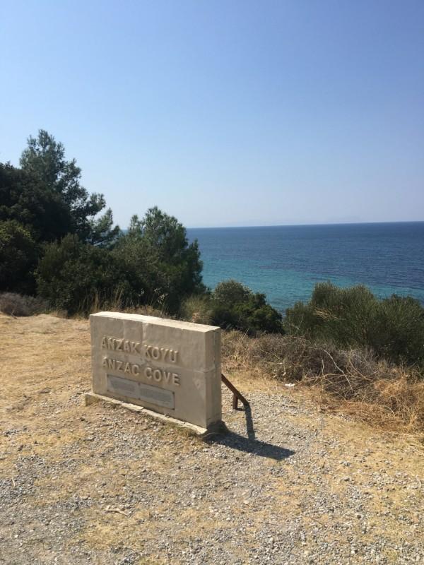 Anzac Cove sign