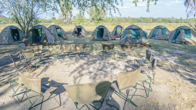 Campsite in Botswana